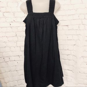 OLD NAVY BLACK LINEN CASUAL SUN DRESS NWT SMALL